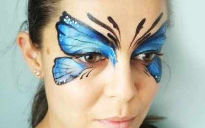 White Whiskers Face Painting 4