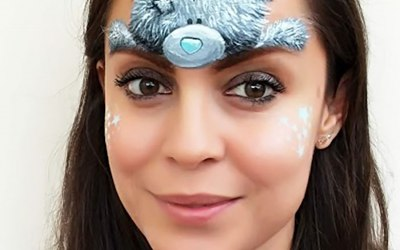 White Whiskers Face Painting 1