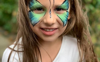 White Whiskers Face Painting 8