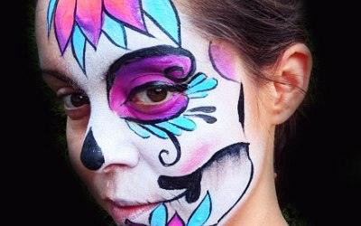 White Whiskers Face Painting 3