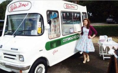 Ice cream van Cotswolds