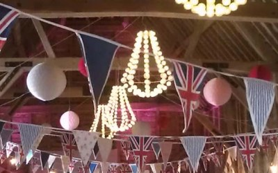 party lighting, wedding decoration, festoon lighting hire