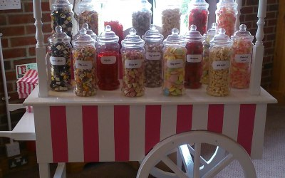 Pink and White Candy Cart  3