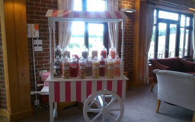 Pink and White Candy Cart  1