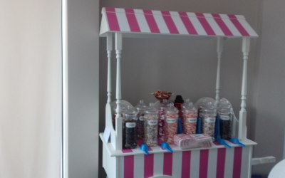 Pink and White Candy Cart  6