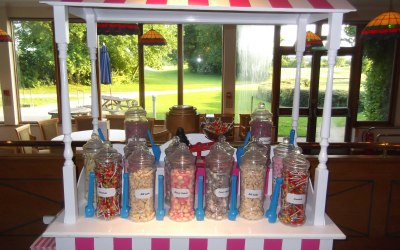 Pink and White Candy Cart  2