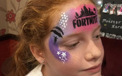 Charity Event face paint - this is a popular boys design too