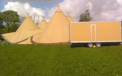 Our Tipi coloured Luxury Loos