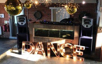 Large Sound System & Fairy Lights