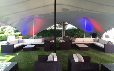 Stretch tent for Sky at the Belfry