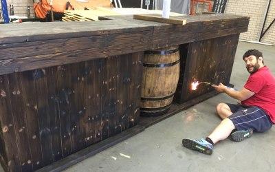 Rustic Barrel bar,