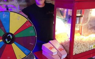 Popcorn Machine and Roulette Wheel