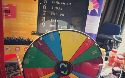 The famous Popcorn Roulette Wheel