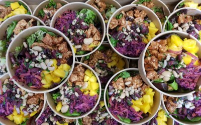 Chipotle Chicken & Mango Salads