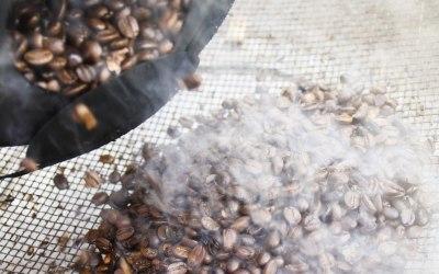 Roasting coffee beans locally
