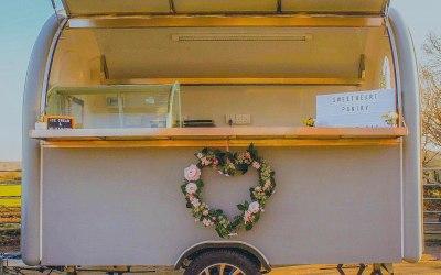 Wedding trailer setup