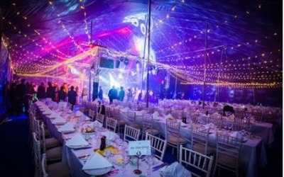 Big top hire for dinner dance
