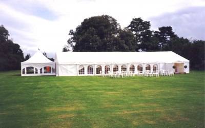 One of our clearspan marquees & pagoda