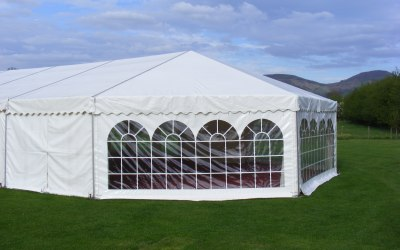 Marquee with bell end.