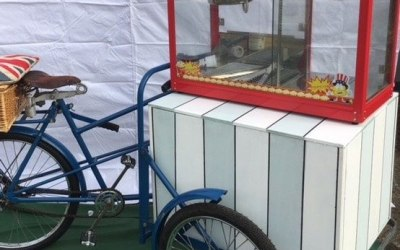 Tricycle Mounted Popcorn Maker