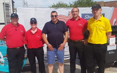 Security team at Weston super Mara doing the street food festival