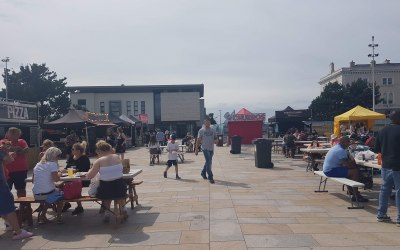 Street food festival at Weston super mare