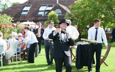 waiter service at a wedding