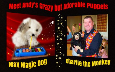 Charlie and Max - the Crazy puppets from Andy's Magic