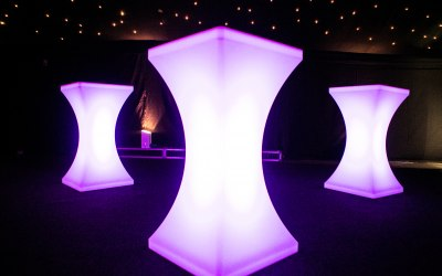 Illuminated Table Hire