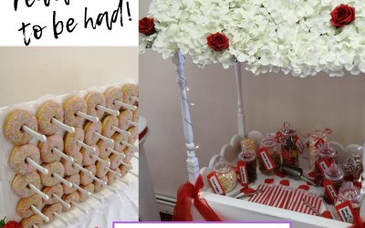 We also do candy carts, sweet buffets and doughnut walls!