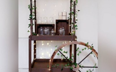Rustic Handmade Sweet Cart