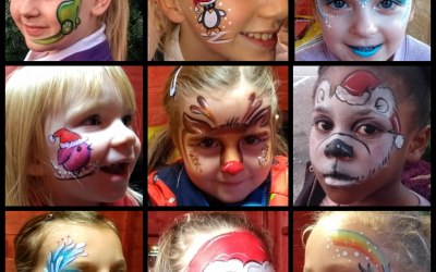 Ladybird Face Painting by Lucy 2