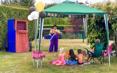 Garden party balloons!