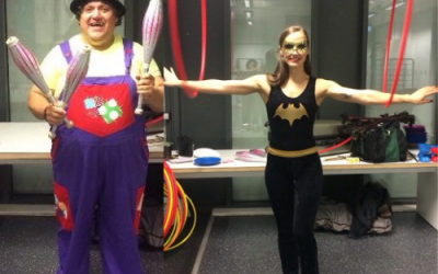 Tolly & Sanna at a children's party!