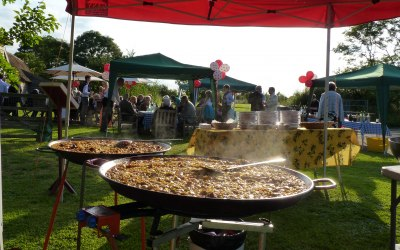 Paella Party in full swing