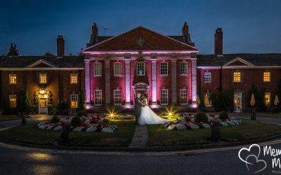Mottram Hall at night