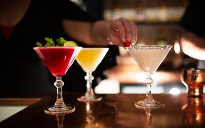 our own fresh cocktails