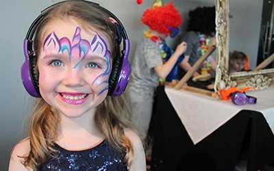 facepainting and silent disco