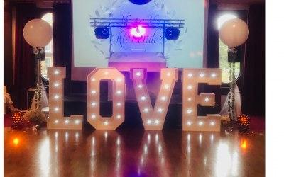DJ SET UP & WEDDING LOVE LETTERS