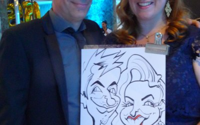 On the spot caricature at a 50th birthday