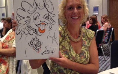 On the spot caricature at a Christmas Party