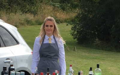 One of our fabulous girls at an outdoor pop up event.