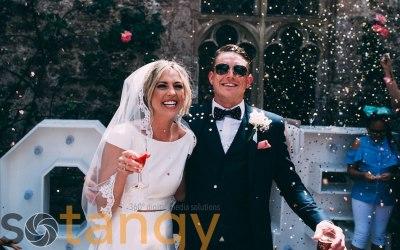 Summer wedding at Lympne Castle , Kent