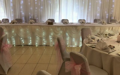 Starlight back drop and top table led  lights