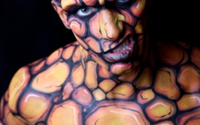 Superhero bodypaint Body Painting By Cat painting Bath Bristol