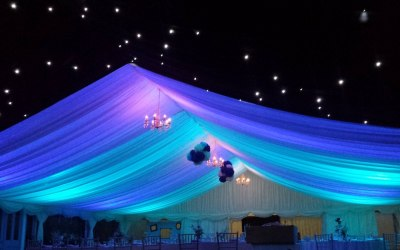LED Colour-washing and blackout starcloth