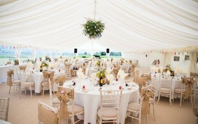 Ivory Lined reception marquee