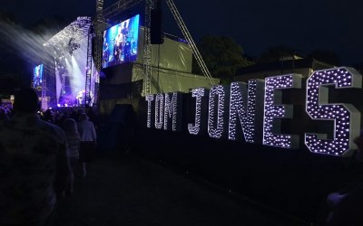 My Light Up Letters at Sir Tom Jones Concert