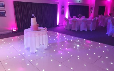 LED Starlit Dancefloor at Prested Hall