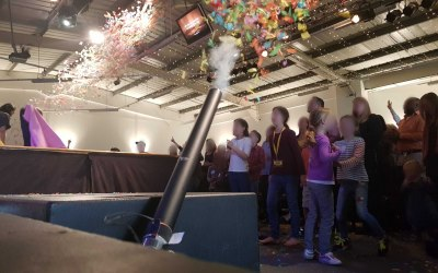 Confetti Cannons for Eastbourne Church Babptisms